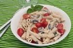 Creamy, basily, mushroomy pasta