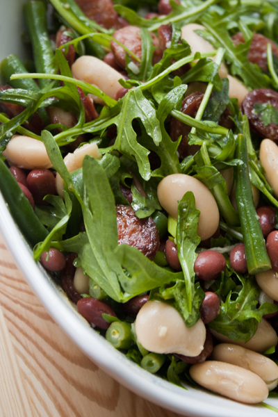 Chorizo and mixed bean salad