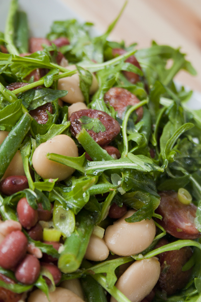 Chorizo & mixed bean salad