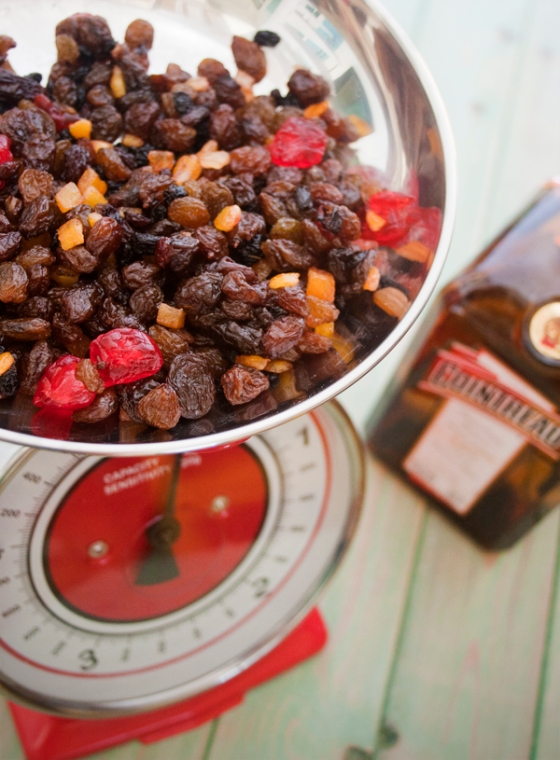 Dried fruit, glace cherries and Cointreau