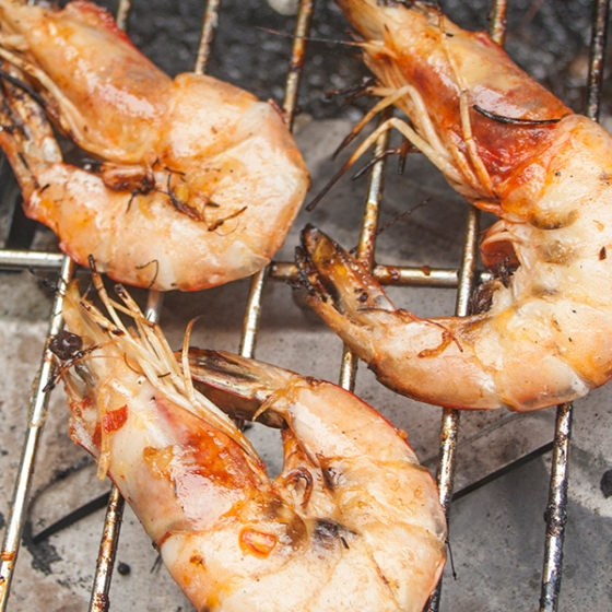 Prawns on the barbie, BBQ, Aussie BBQ