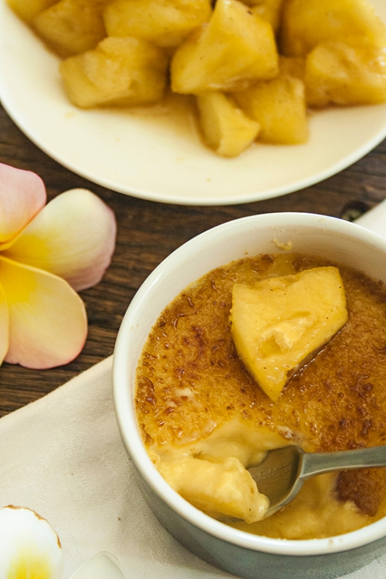 five-spice pineapple creme brulee