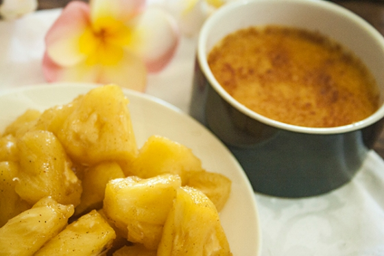 spiced pineapple brulee