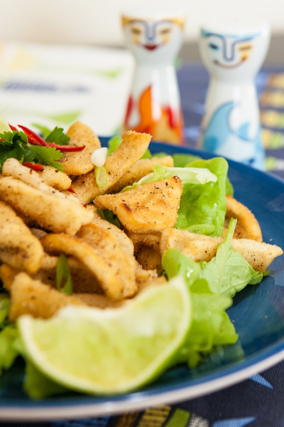 Salt and pepper squid with five-spice